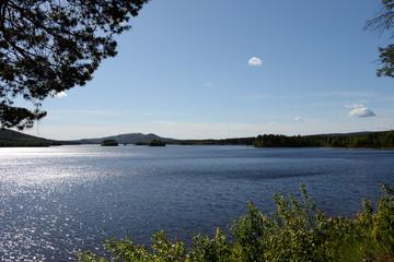 Panorama am Lilla Luleälv in Jokkmokk