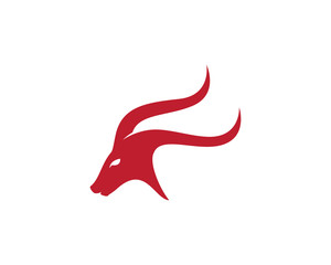 Goat Logo Template vector icon illustration