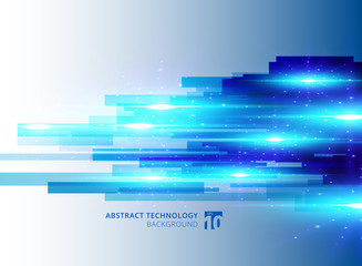 Abstract blue virtual technology concept futuristic digital background with space for your text
