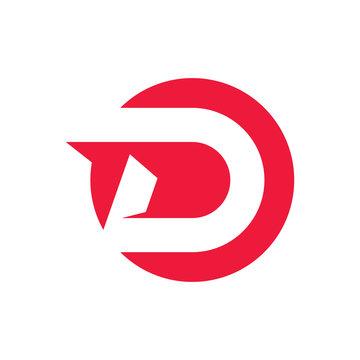Letter D logo simple