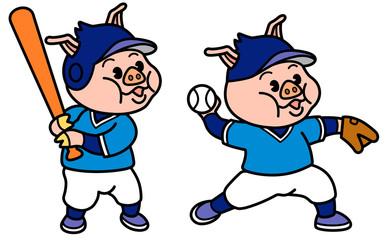 子ブタの少年野球