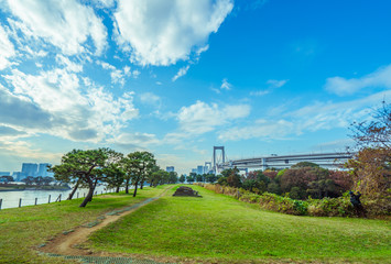 nature sky cityscape urban retro background material tokyo japan