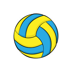 Volleyball symbol color