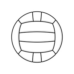 Volleyball symbol white
