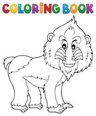 Coloring book mandrill theme 1