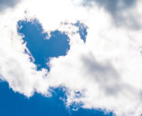 Clouds heart shaped  valentines  weddings love