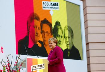 Jubilee event marking 100 years of women's voting right in Germany, in Berlin