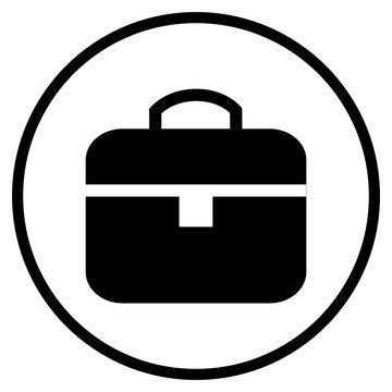 Icon Aktentasche im Kreis