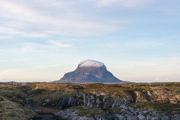 View of Lovund island in Nordland county, Norway.