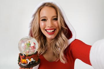 Close up portrait of a happy blonde woman