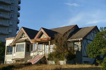 日本の小豆島の廃虚