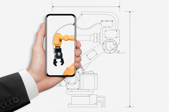 Augmented reality in engineering. Construction of robots.
