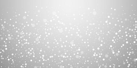 Magic stars random Christmas background. Subtle fl