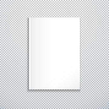 vector blank magazine template mockup.