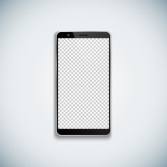 vector blank smartphone template mockup.