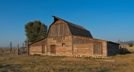 Old barn at Mormon Row Historic District, Grand Teton National Park, Wyoming, USA