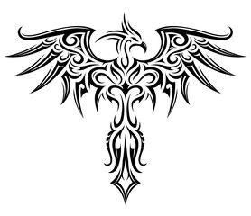 Phoenix tattoo shape