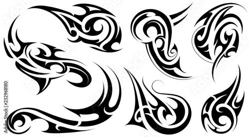 d1ef28d37 Tribal art tattoo set