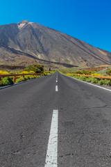 Asphalt Road through the Teide National Park