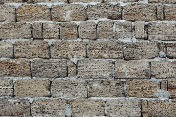 texture of the gray stone wall