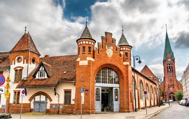 Obraz Old city market in Bydgoszcz, Poland - fototapety do salonu