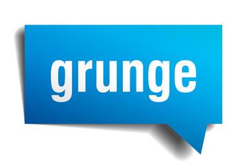 grunge blue 3d speech bubble
