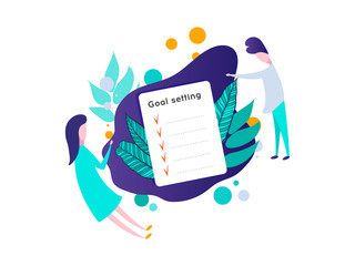 Smart Goal Setting Concept. Goal concept,all goals vector success business strategy concept icon