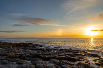 Dawn at the coastline of Craster, Northumberland