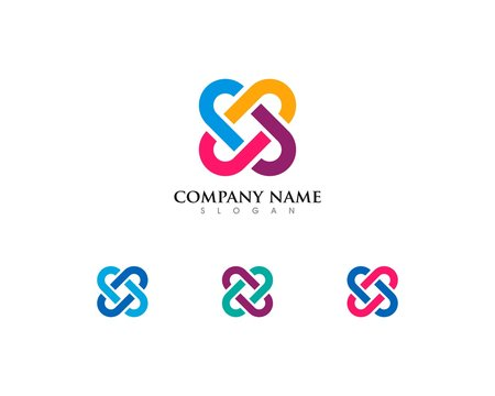 Community Chain Rainbow Logo Template