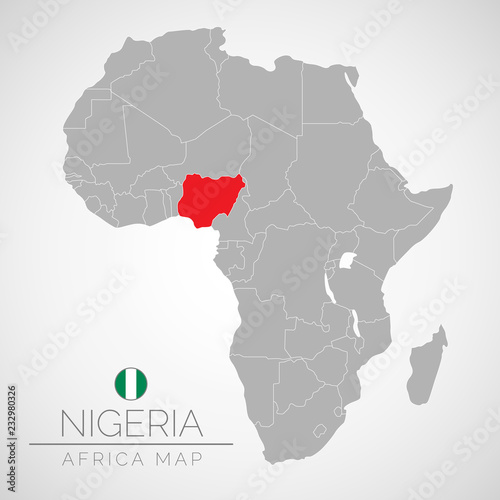 Map of Africa with the identication of Nigeria. Map of Nigeria ...