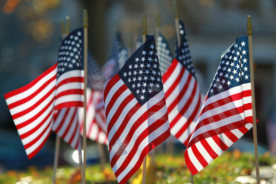 American Flags for celebrating the holiday