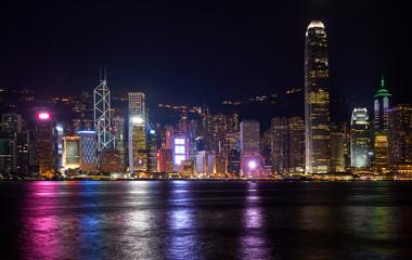 lighting festival of cityscape in hong kong