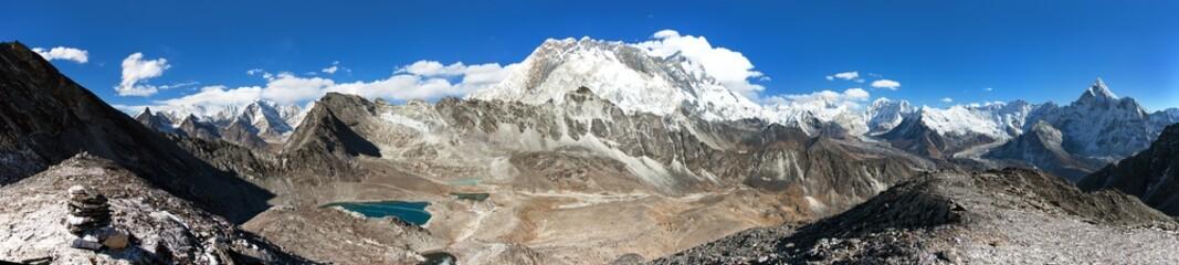 mounts Lhotse, Makalu and Nuptse, Nepal Himalayas