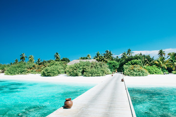 Tropisches Strand Panorama
