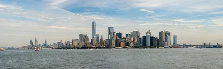Manhattan / New York Panorama von Ellis Island aus gesehen