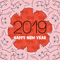 Pig is the symbol of the new year 2019.