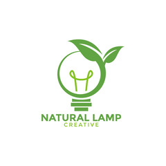 Natural lamp graphic design template vector illustration