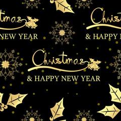 Christmas seamless pattern,winter,happy new year,text premium