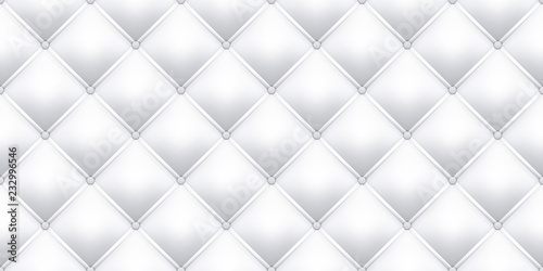 White Leather Upholstery Texture Pattern Background Vector Seamless