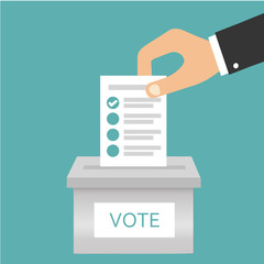 Voting. Ballot box. Candidate elections. Presidential elections. Do the choice. Vector illustration