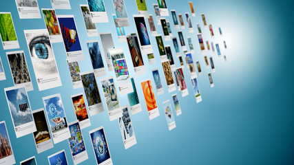 Image, photo or picture sharing concept on internet