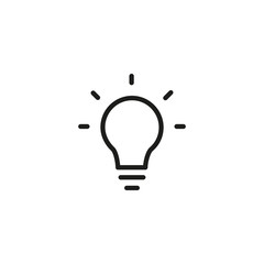 Shining bulb line icon. Lamp, electricity, energy. Idea concept. Vector illustration can be used for topics like intelligence, imagination, inspiration