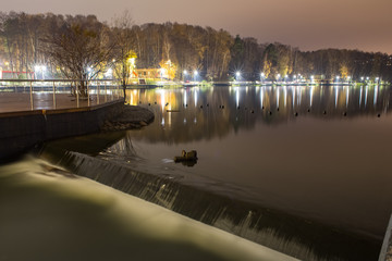 Night embankment of the river