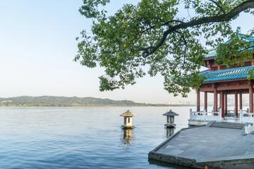 Beautiful landscape and landscape in West Lake, Hangzhou