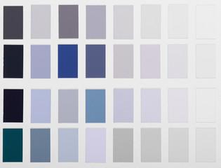 Color samples palette catalog