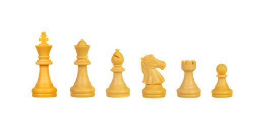 Chessmen Isolated on White