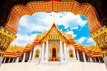 Wall Mural - Wat Benchamabophit Marble temple, Bangkok