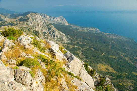 Hills and rocks of Biokovo mountain range, Dalmatia, Croatia