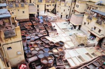 Tanneries, Fes el Bali, Morocco