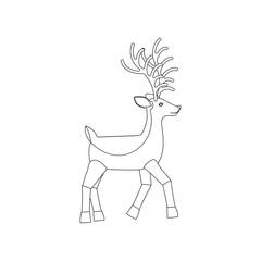 Deer vector illustration coloring page